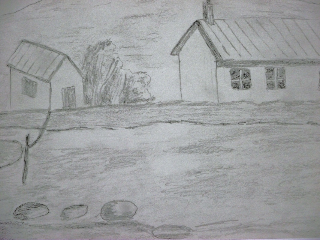 I drew this picture at pallant house workshops i enjoyed drawing the picture i used a pencil to draw it i like drawing pictures but they have to look